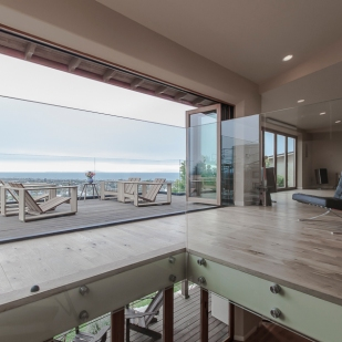 Hillside Residence Ventura CA | living room deck ocean view