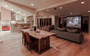 Ventura CA Hillside Residence | media room night