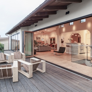 Hillside Residence Ventura CA | view from deck to living room