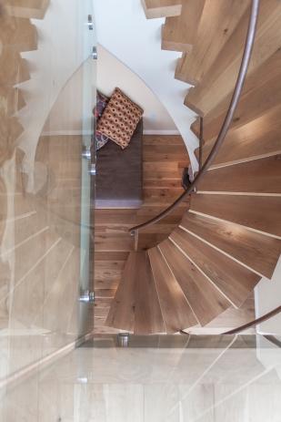 Ventura CA Hilliside Residence | stairway looking down