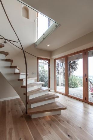 Ventura CA Hillside Residence | stairway open plan