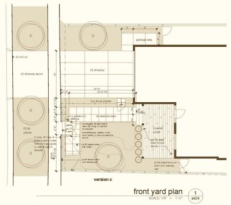 Palisades front yard plan