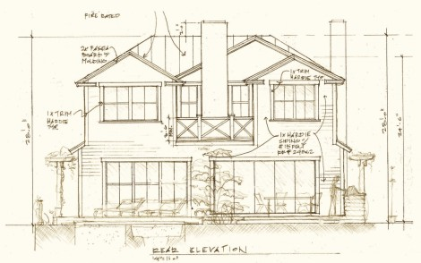 Rear elevation sketch | Palisades