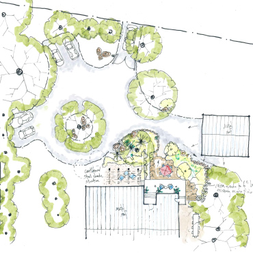 Front Yard Patio Landscape | Ojai CA