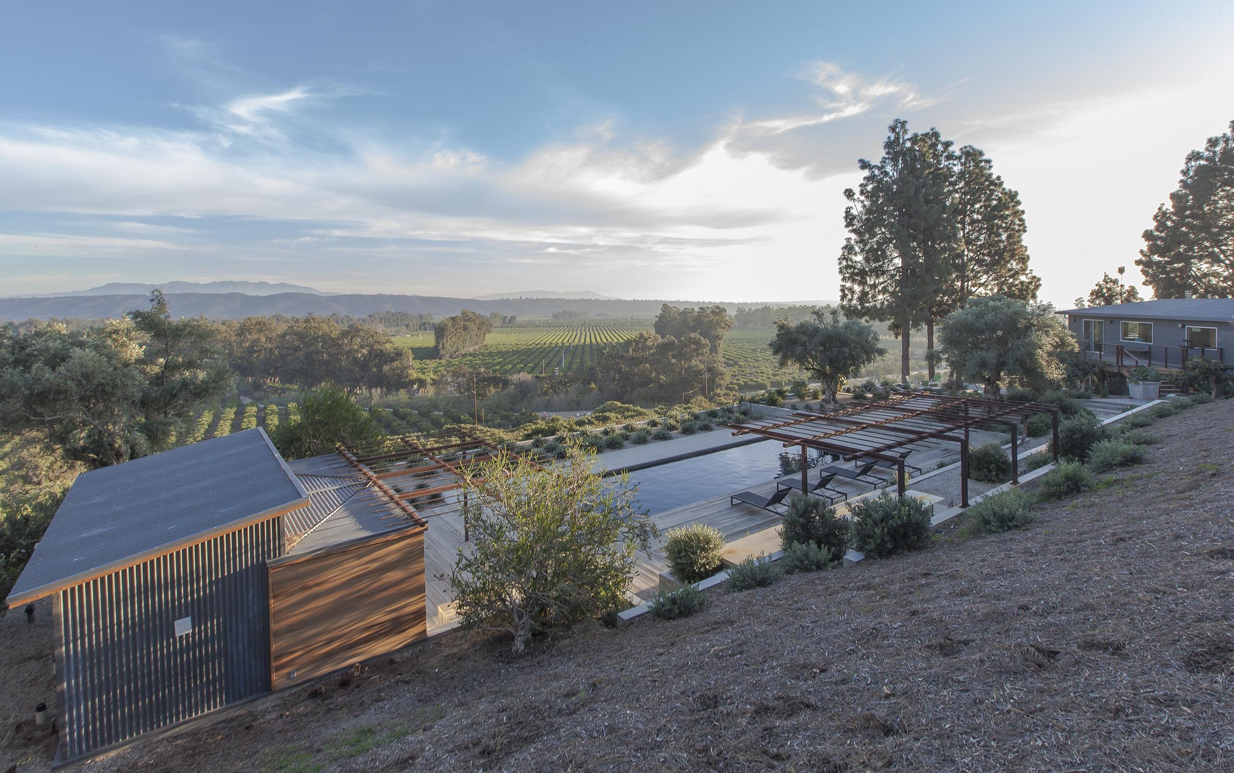 Table to farm cj paone aia ventura ca architect for Pool design ventura