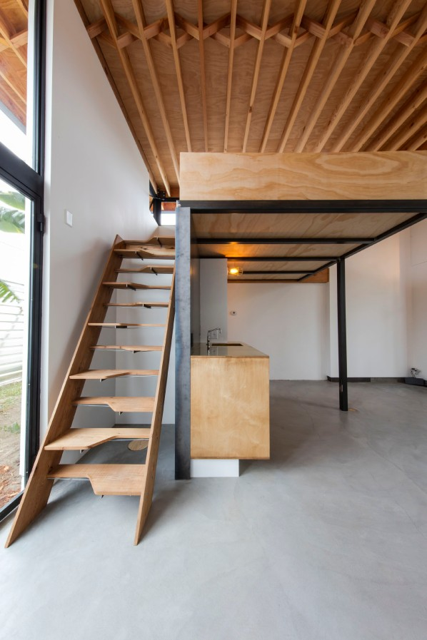 Alternate-treat stairway leads to sleeping loft