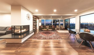 Pacific views fireside in the main living area.