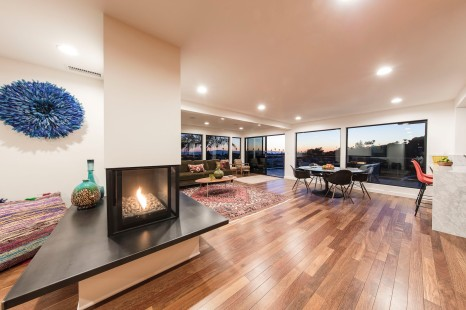 Open plan living/dining space.