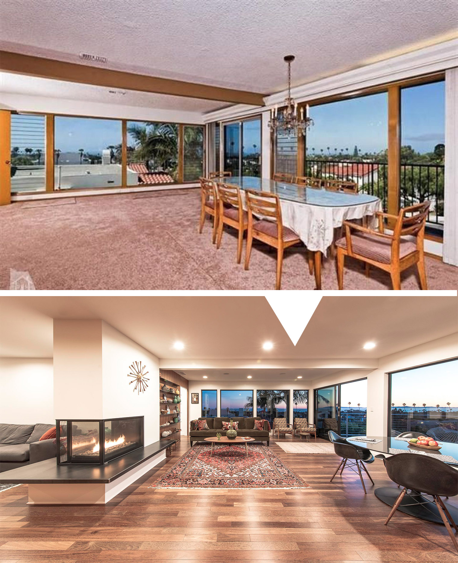 Before After Making A Mid Century Modern Again Part 1